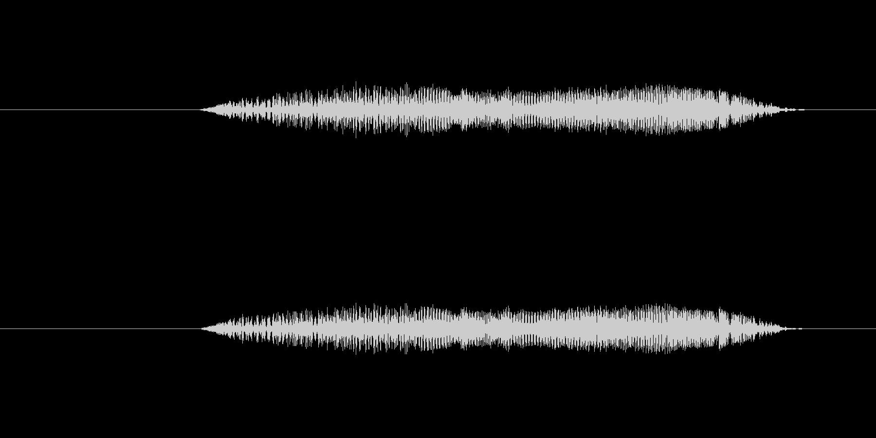鳥 フクロウの叫び01の未再生の波形