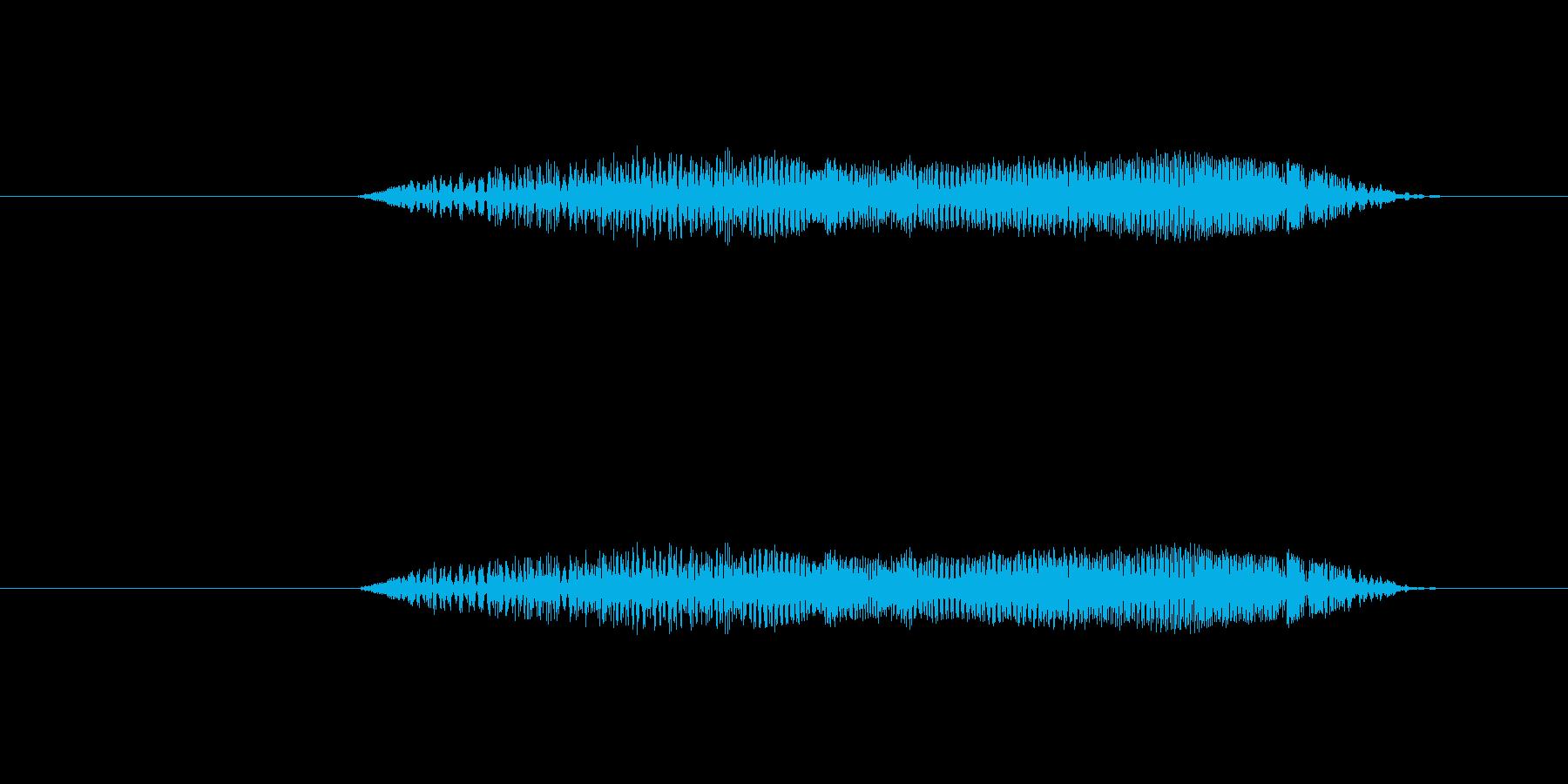 鳥 フクロウの叫び01の再生済みの波形