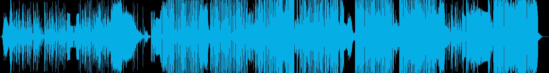 ドラムのDJスクラッチによるダンスBGMの再生済みの波形