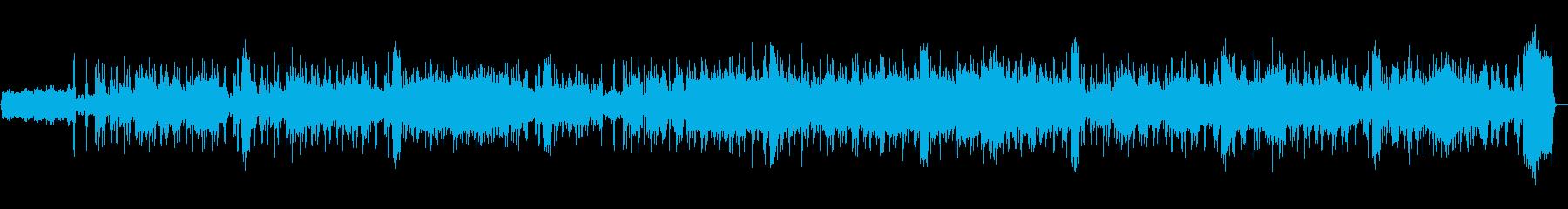 ジャズオーケストラ調のブルースの再生済みの波形