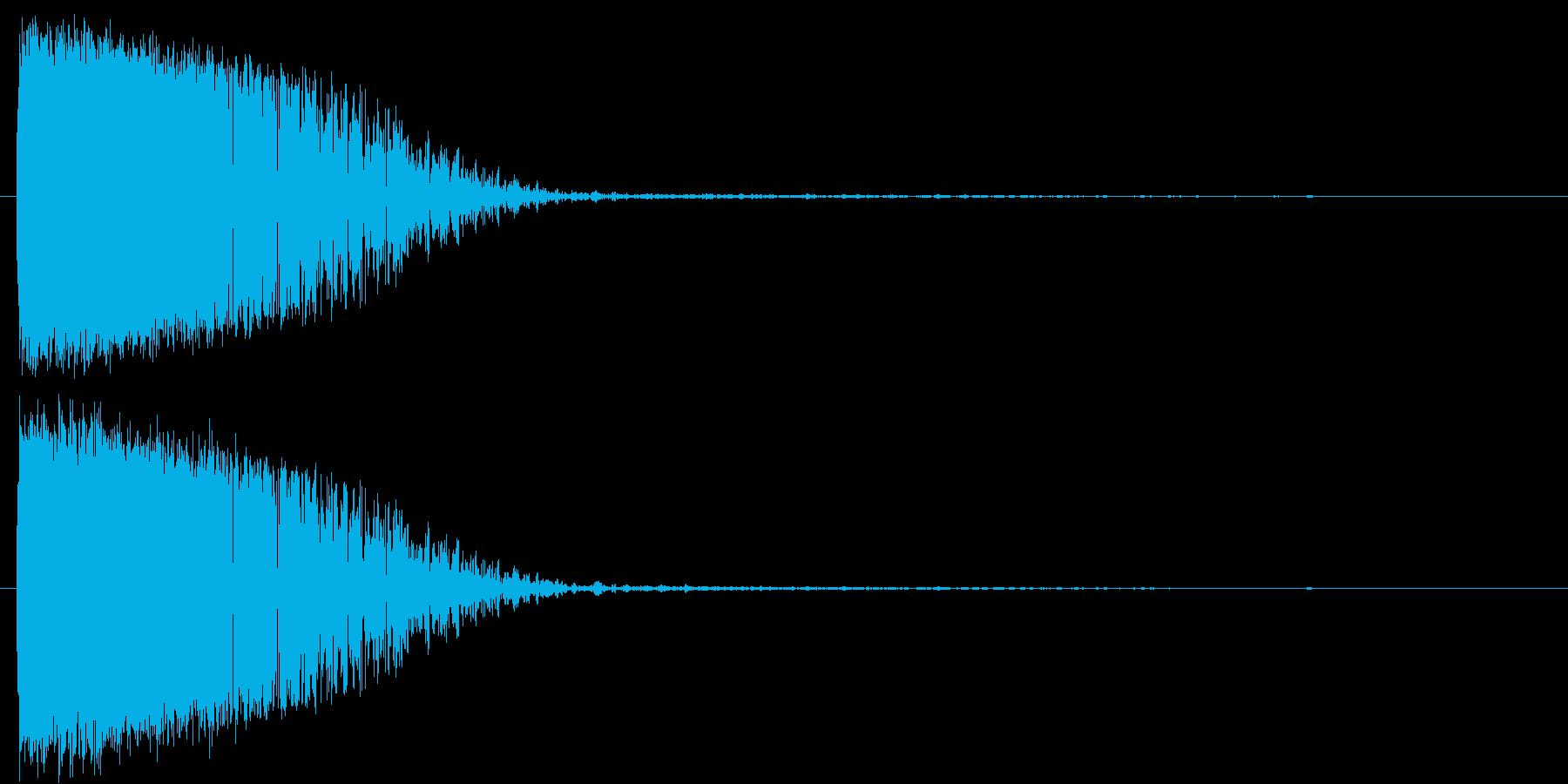 雷/落雷/魔法の再生済みの波形