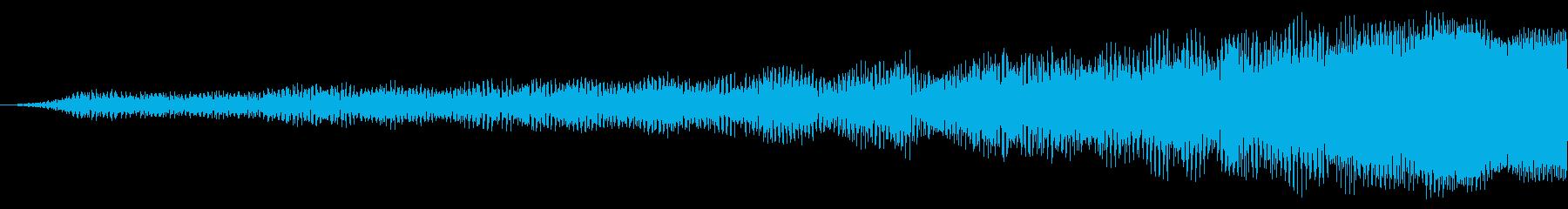 スロードラマティックシンセトーンライザーの再生済みの波形