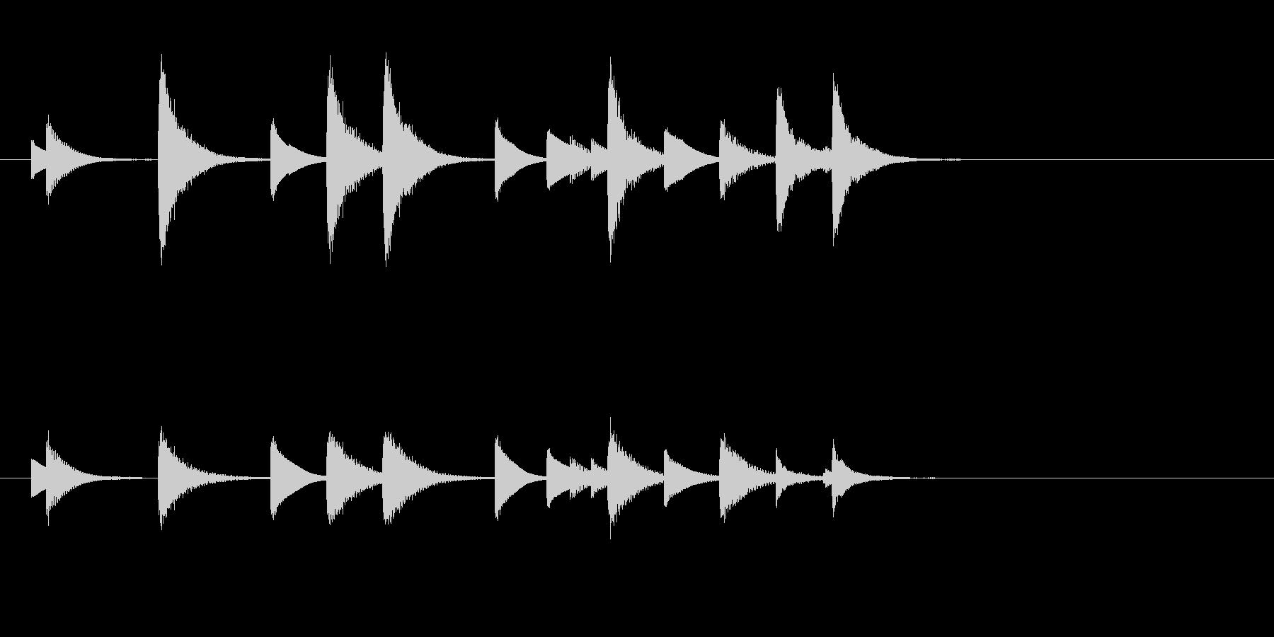 和風のめでたしめでたし的なジングルの未再生の波形