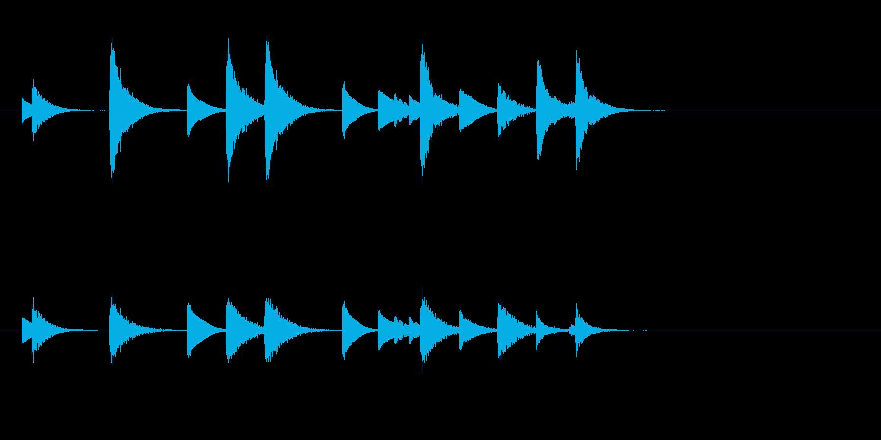 和風のめでたしめでたし的なジングルの再生済みの波形