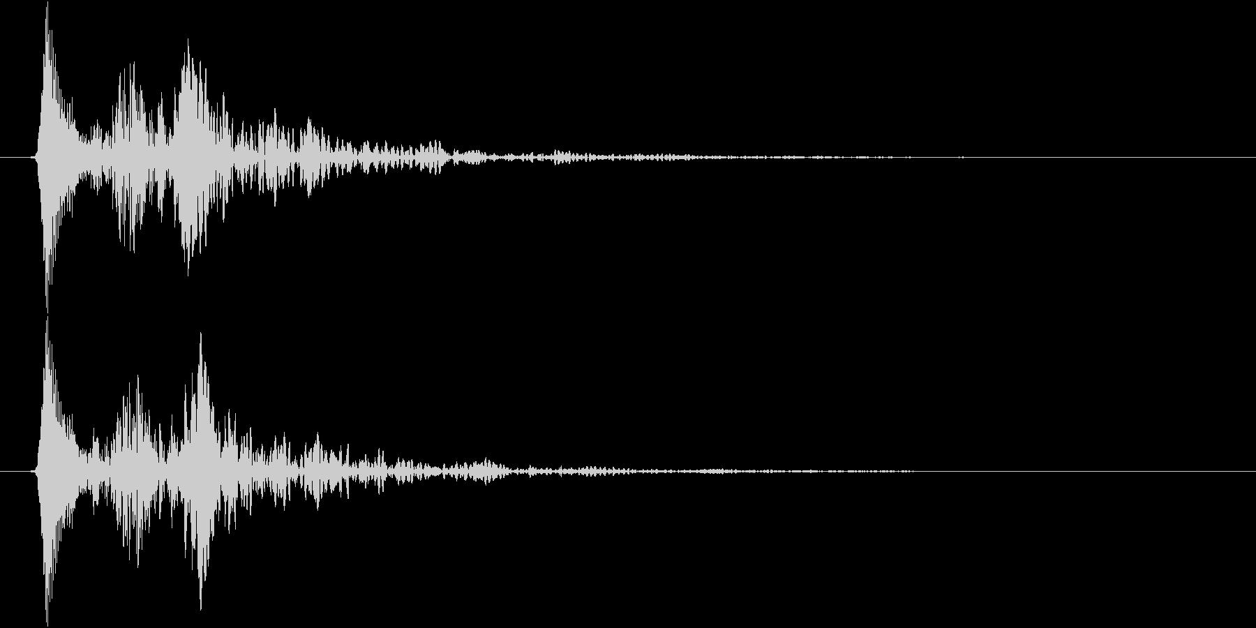 柔らかい or 毒々しい音(ボユン)の未再生の波形