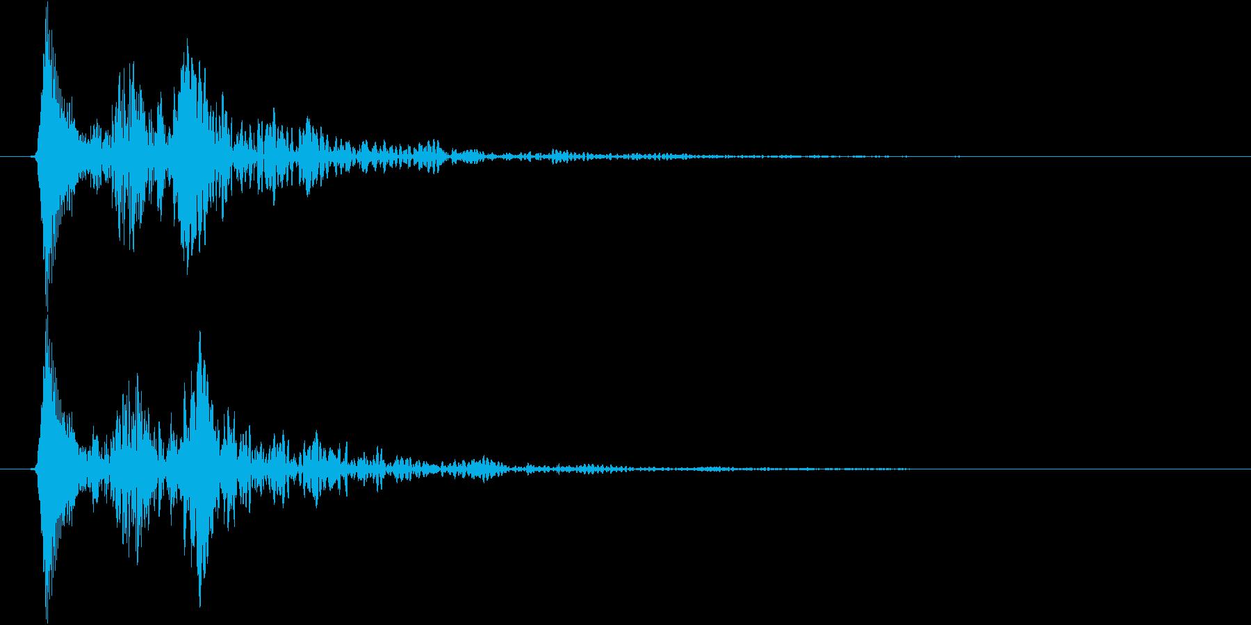柔らかい or 毒々しい音(ボユン)の再生済みの波形