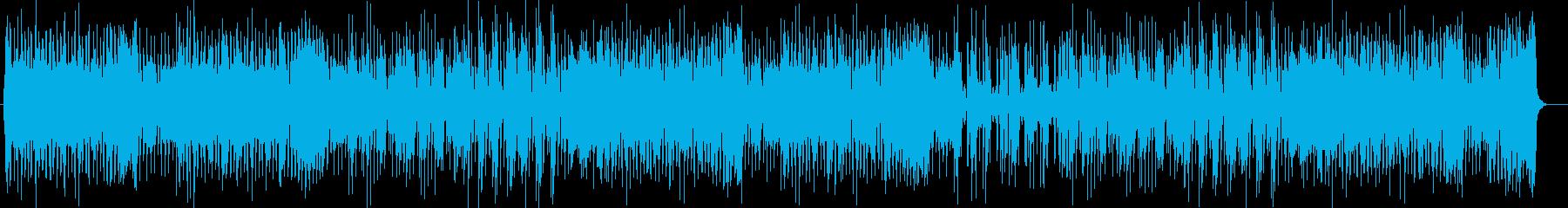 ややアップテンポのシンセサイザー楽曲の再生済みの波形