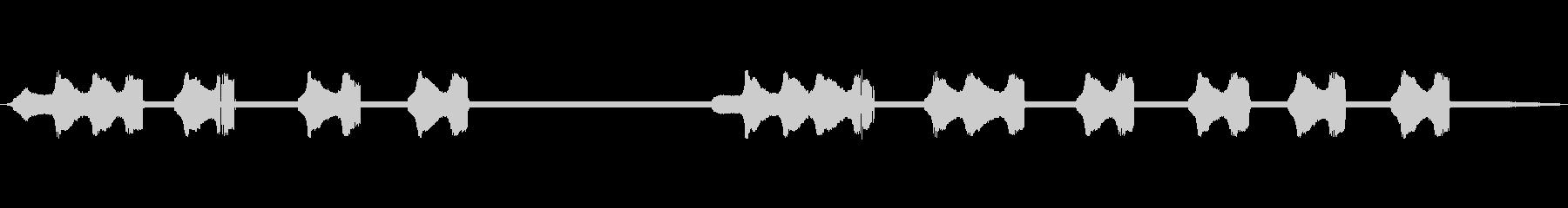 スズムシの声(ソロ=独り鳴き)の未再生の波形