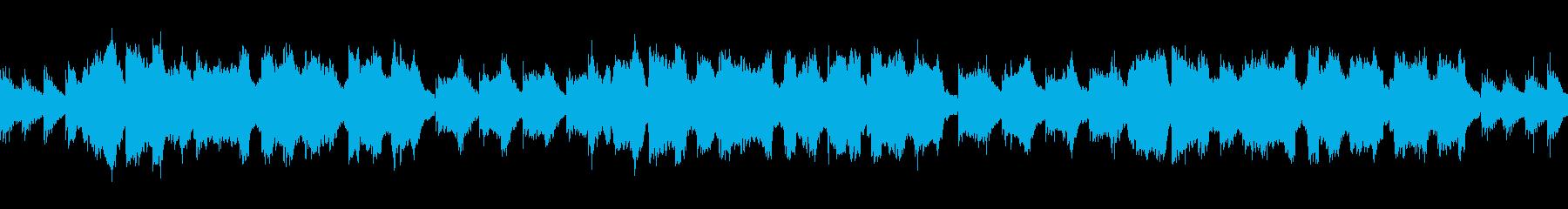 寂しいフルートとアコギの使いやすいループの再生済みの波形