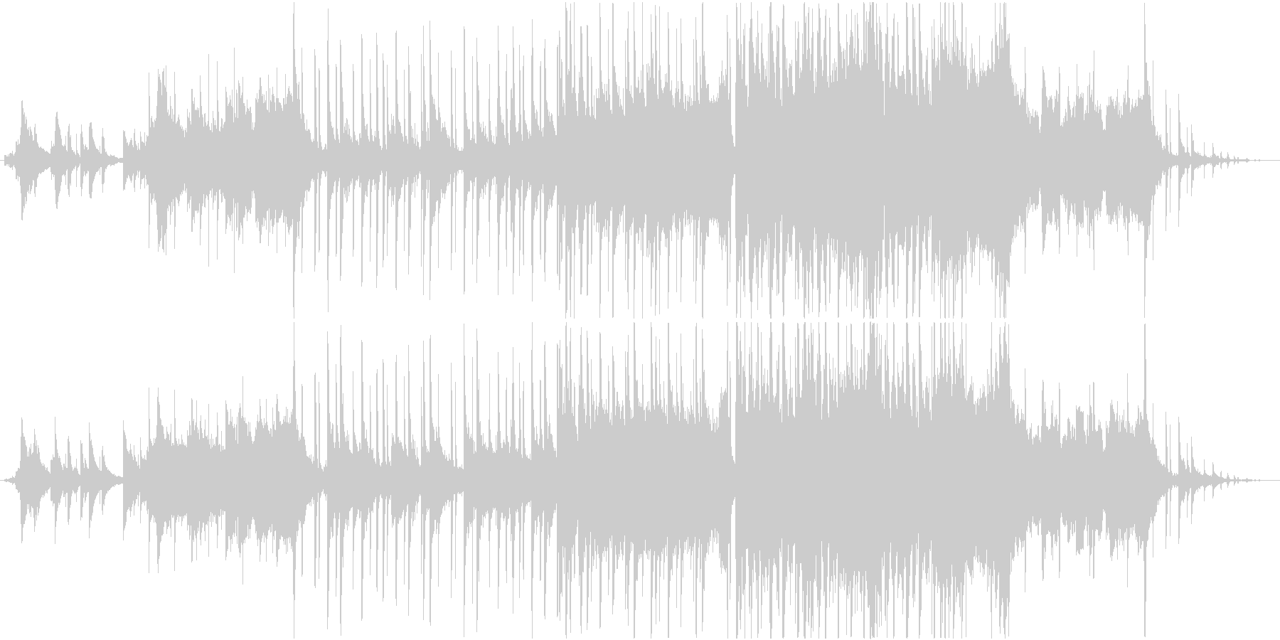どこか切ないピアノミッドバラードの未再生の波形