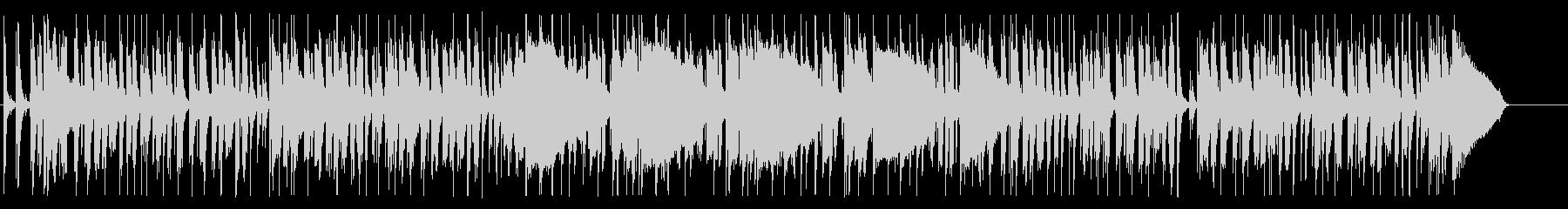 ドラムとベースのみ・ファンク系ビートの未再生の波形