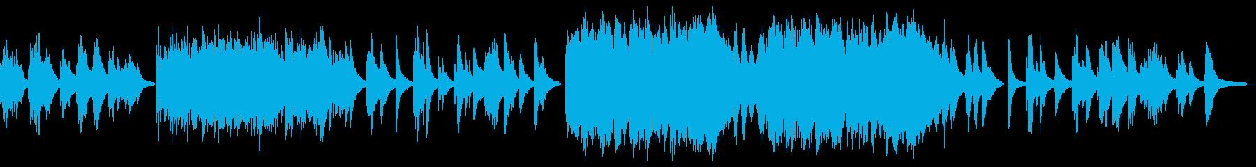 シンプルなピアノとストリングスのバラードの再生済みの波形
