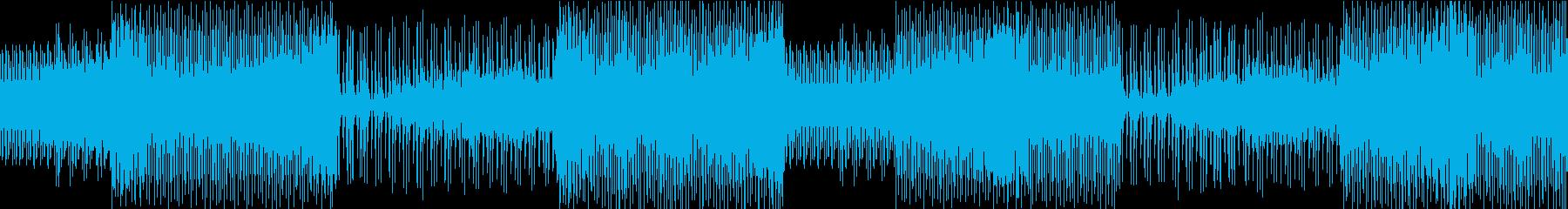 ウッドベースが目立つ緊迫感のあるBGMの再生済みの波形