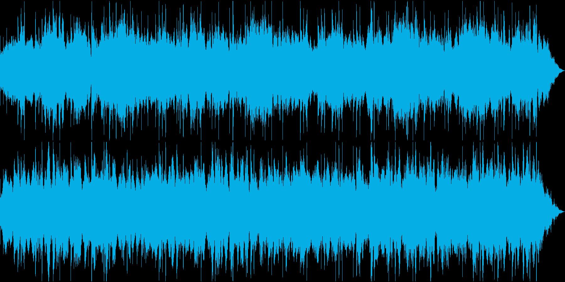 海・森・自然を感じさせるゆったりBGMの再生済みの波形