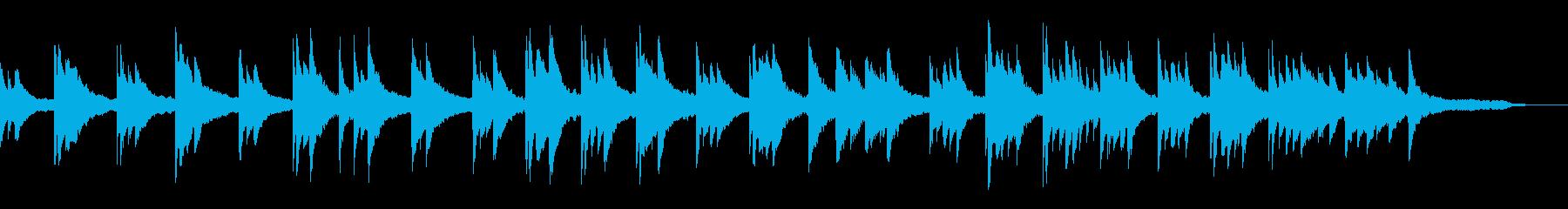 映像・ナレーション用ピアノ演奏(寂しさ)の再生済みの波形