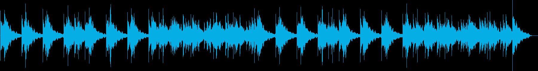 哀しげなシンセサイザーサウンドの再生済みの波形