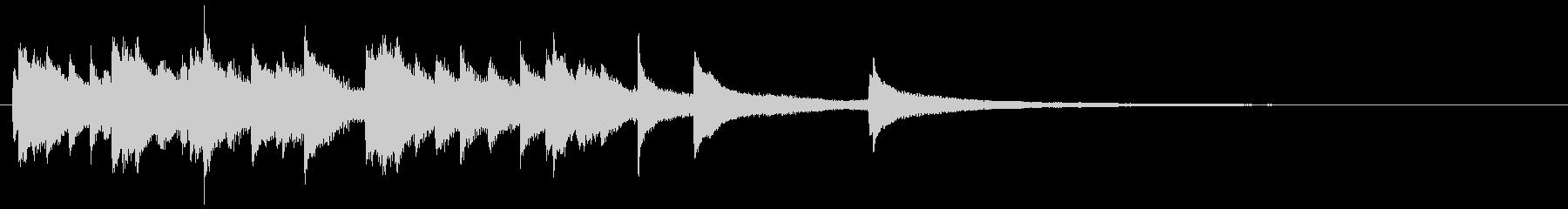 オシャレでラグジュアリーなジャズピアノの未再生の波形