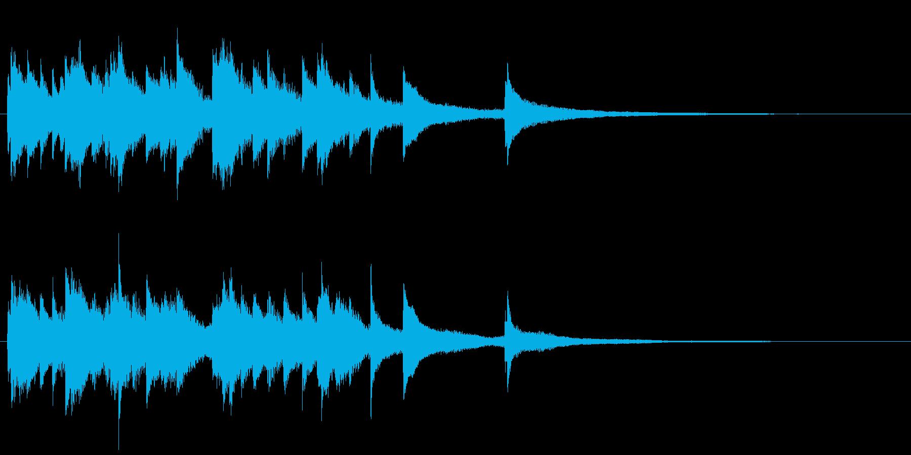 オシャレでラグジュアリーなジャズピアノの再生済みの波形