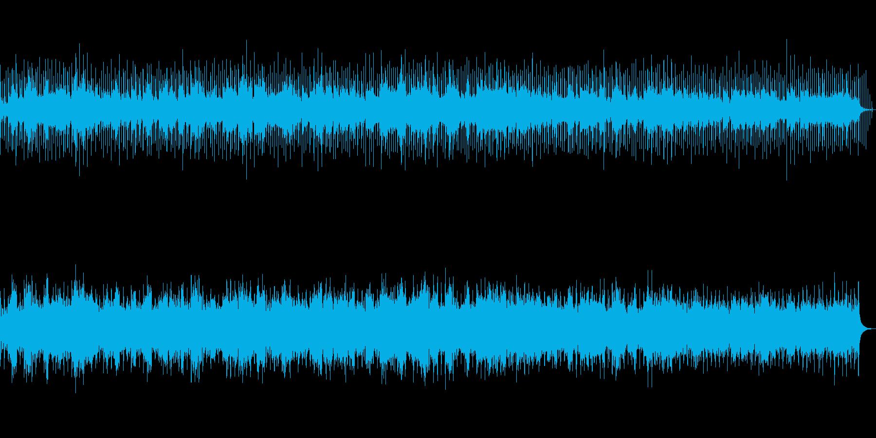 さわやかなフルートとギターのBGMの再生済みの波形