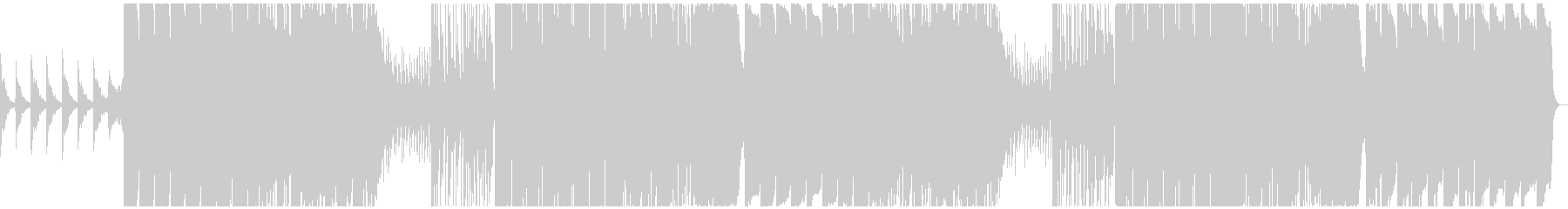 サブベース強めのシリアスなエレクトロの未再生の波形