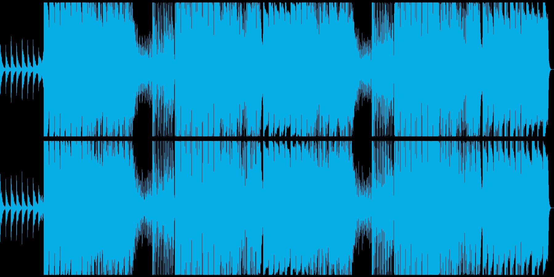 サブベース強めのシリアスなエレクトロの再生済みの波形