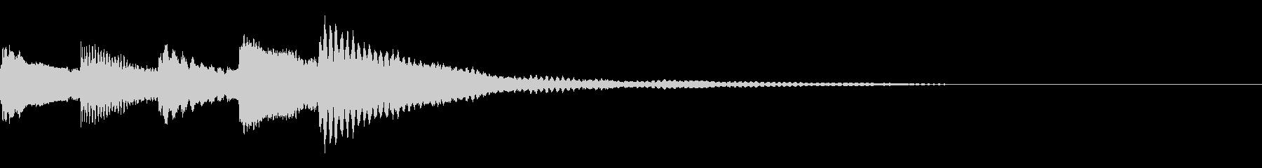 ピアノ ジングルの未再生の波形