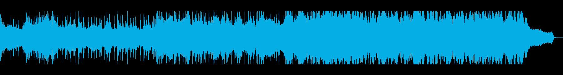 シリアスなバイオリンピアノサウンドの再生済みの波形