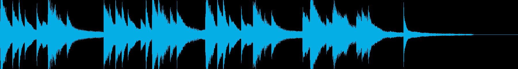 しっとりとした切ないピアノ曲の再生済みの波形