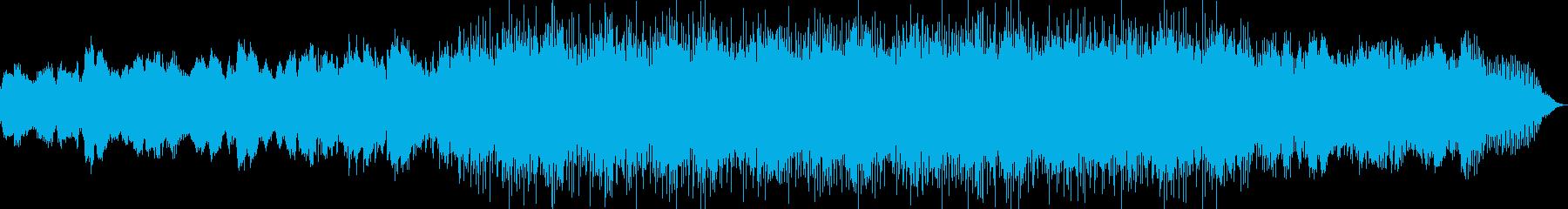 自然の力強さをイメージした楽曲の再生済みの波形