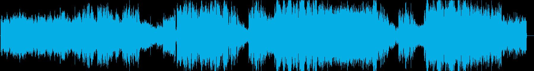 壮大で疾走感あるエレクトロロックバラードの再生済みの波形