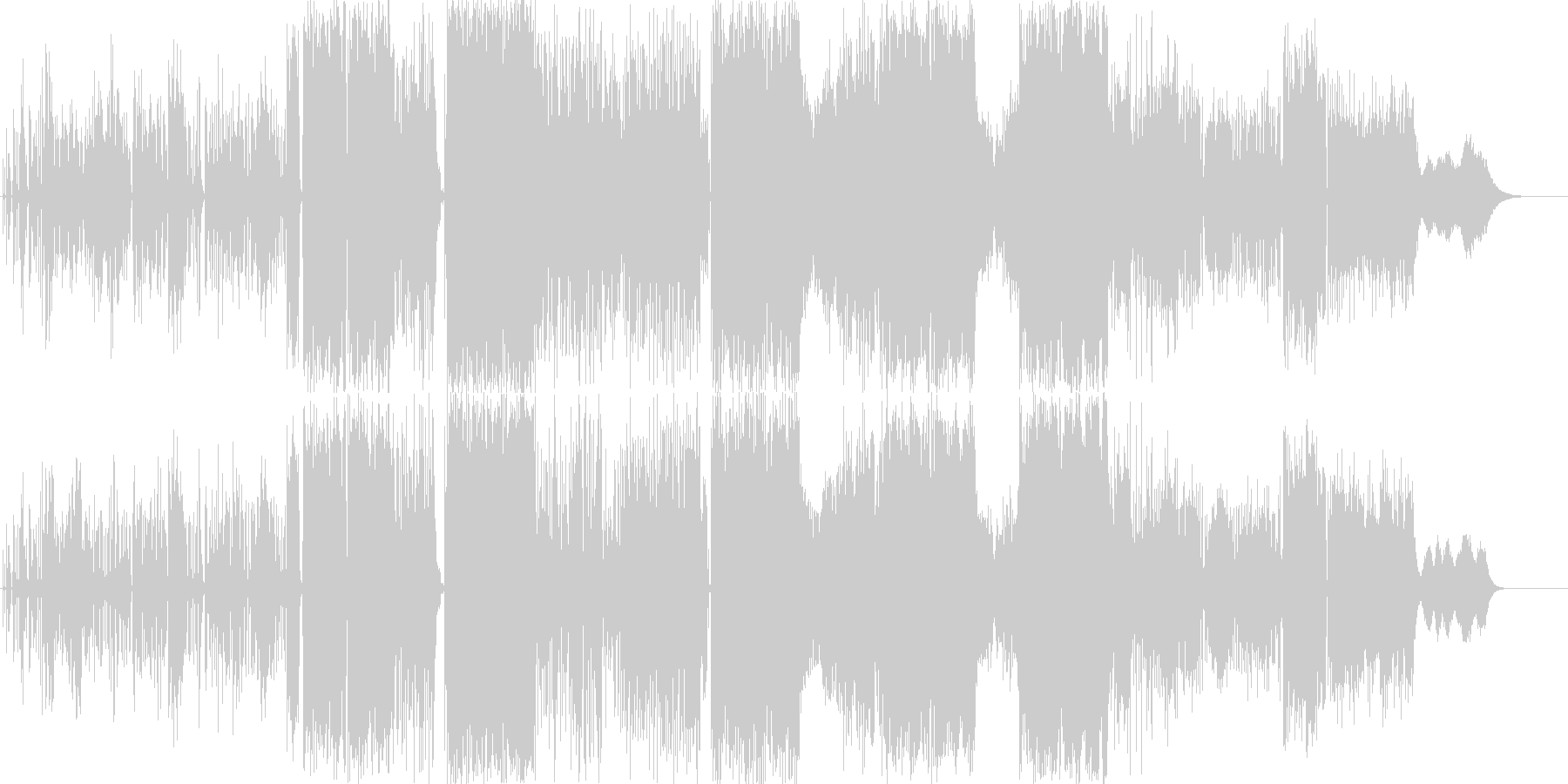 近未来的高級感溢れるサウンドの未再生の波形