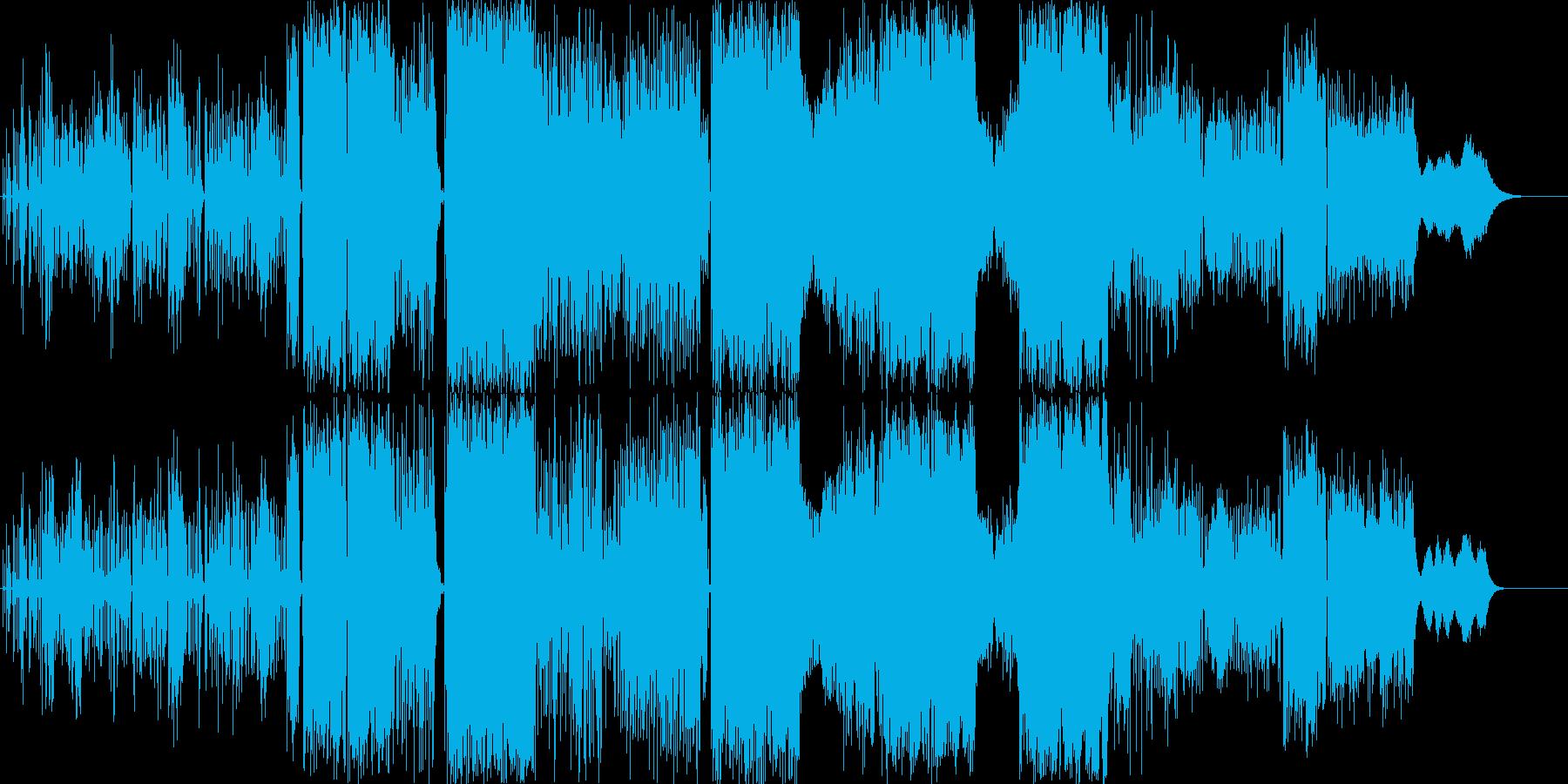 近未来的高級感溢れるサウンドの再生済みの波形