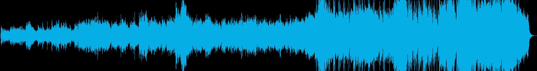 きらきらしたオーケストラ風のBGMの再生済みの波形