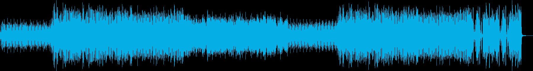 和風戦闘曲の再生済みの波形