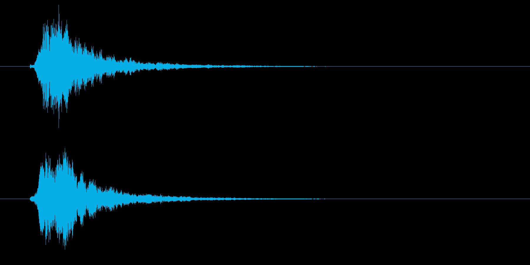 ピロリン(高音の決定音)の再生済みの波形