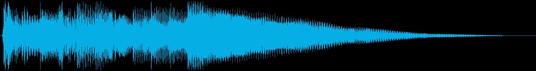 アコギの爽やかなジングルの再生済みの波形