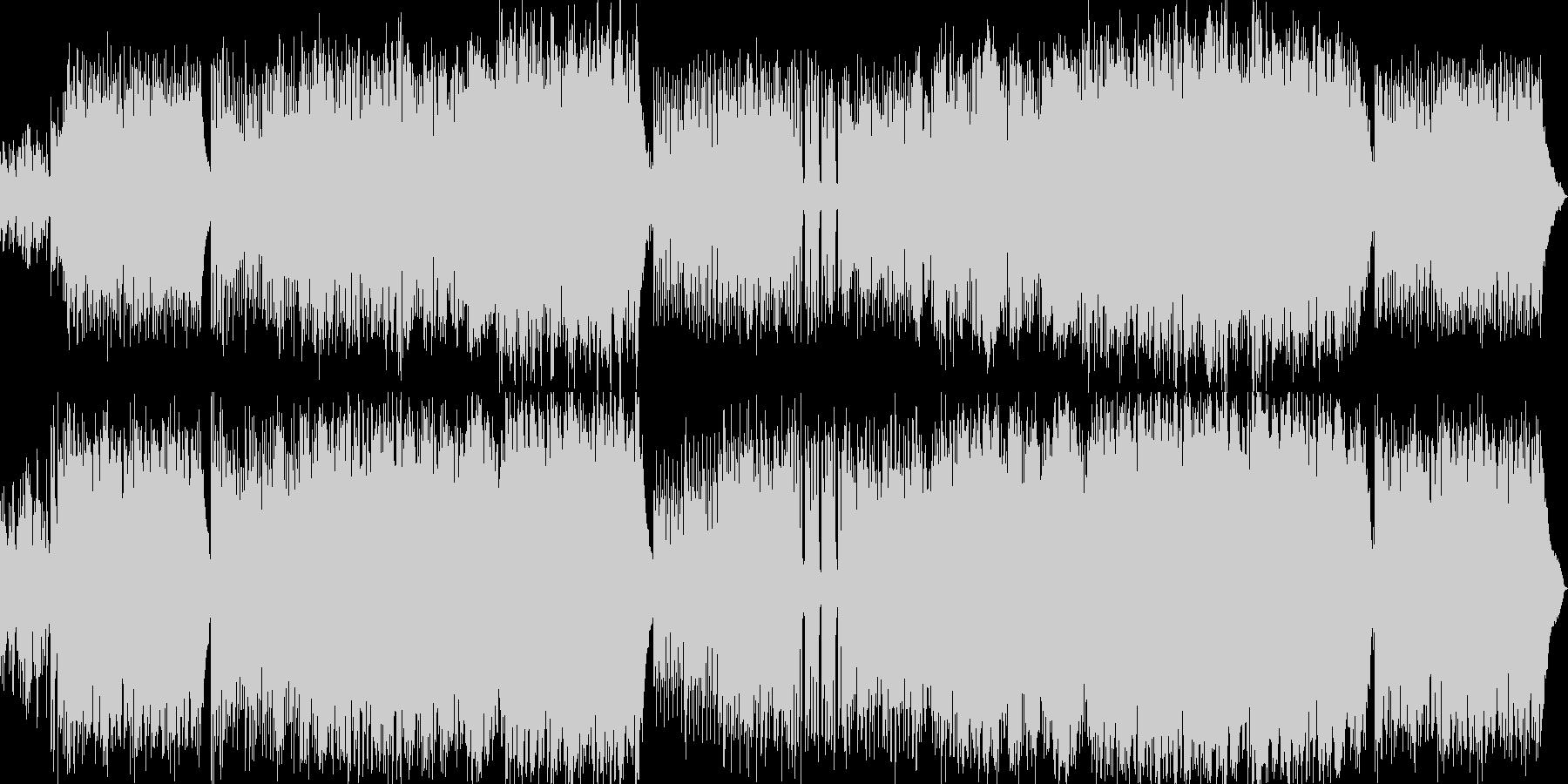 ピアノ・鍵盤ロックで疾走感のある楽曲の未再生の波形