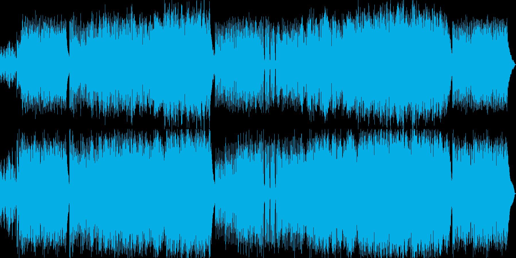 ピアノ・鍵盤ロックで疾走感のある楽曲の再生済みの波形