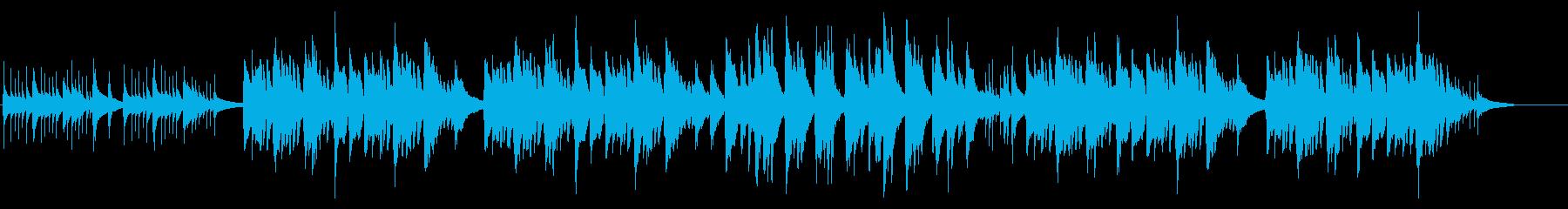 鉄琴メインの暗くて切ない系BGMの再生済みの波形
