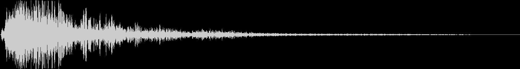 SFX爆発音01の未再生の波形