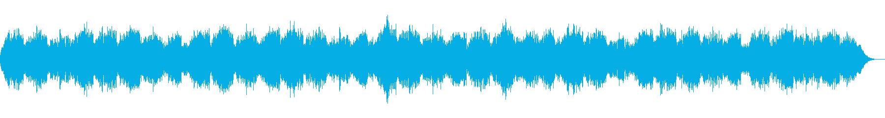 恐怖感を演出するダークなコーラスBGMの再生済みの波形