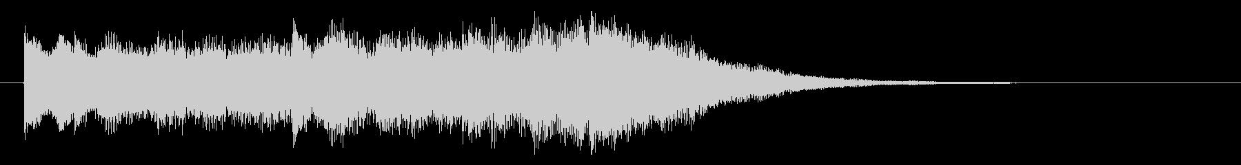 透明感のあるシンセサイザーでサウンドロゴの未再生の波形