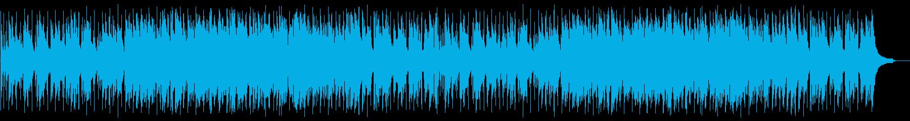 しっとりとしたバラード調の曲の再生済みの波形