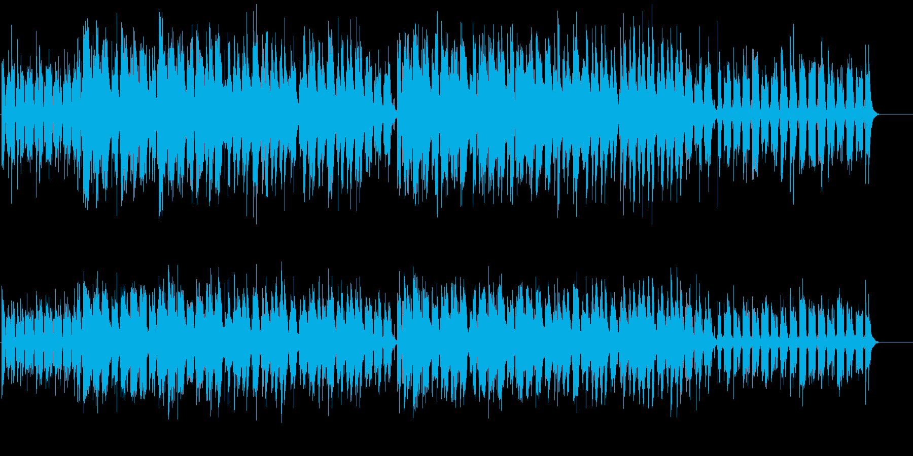 テンポ良く落ち着いた雰囲気のミュージックの再生済みの波形