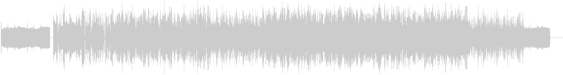 異世界に迷い込んだ様な電子音のBGMの未再生の波形