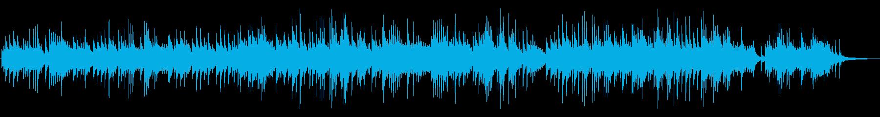 静かで優しい、叙情的なピアノBGMの再生済みの波形
