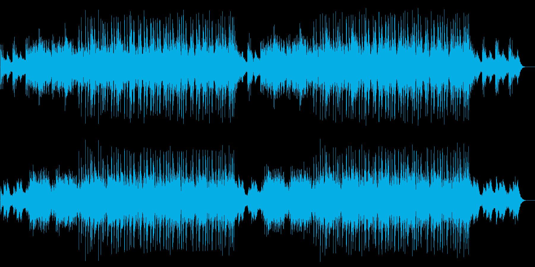 透明感のある流れるようなBGMの再生済みの波形