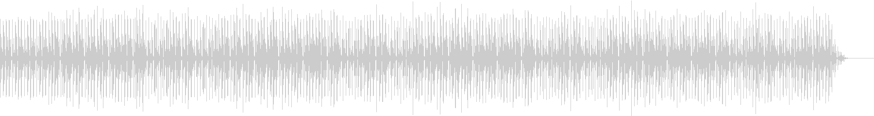 コミカルなファンクの未再生の波形