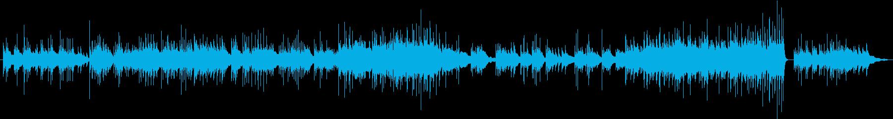 退廃的なピアノソロ曲の再生済みの波形