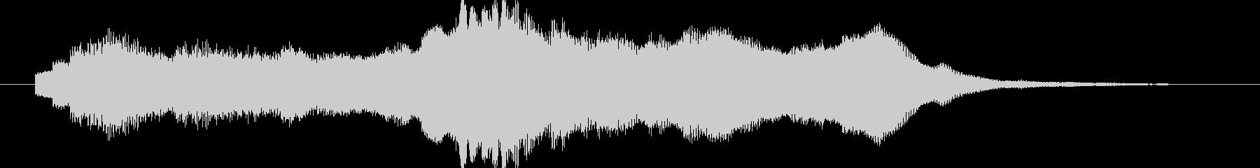 PC起動音のようなシンプルなジングルBの未再生の波形